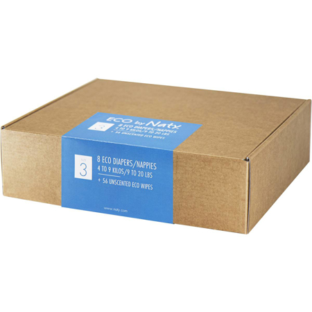 Slika Eco by Naty® Poskusna škatla 3 (4-9 kg) 10 kosov