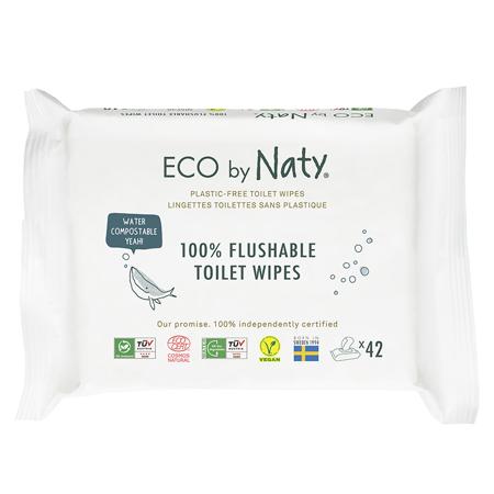 Eco by Naty® Osvežilni robčki Flushable 42 kosov