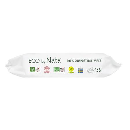 Eco by Naty® Osvežilni robčki Aloe 56 kosov