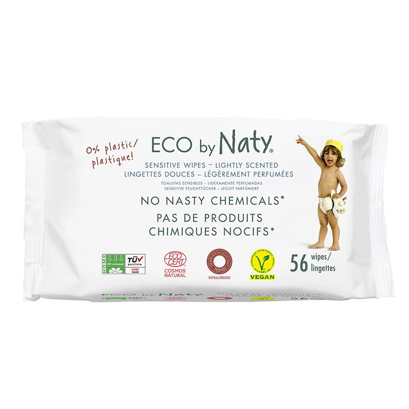 Eco by Naty® Osvežilni robčki Lightly Scented 56 kosov