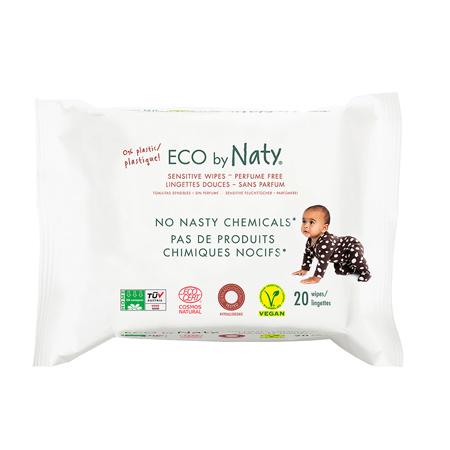 Slika Eco by Naty® Osvežilni robčki Travel Pack 20 kosov