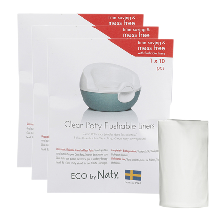 Slika Eco by Naty® Biorazgradljive vrečke za kahlico Potty Liners 3x10 kosov