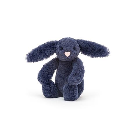 Slika Jellycat® Plišasti zajček Bashful Navy Baby 13cm