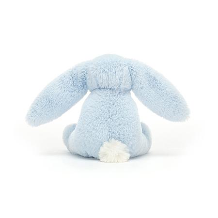 Jellycat® Plišasti zajček z lesenim obročem Bashful Blue 13cm