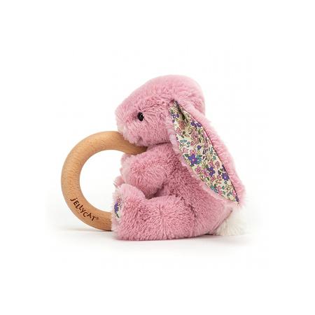 Jellycat® Plišasti zajček z lesenim obročem Blossom Tulip 13cm