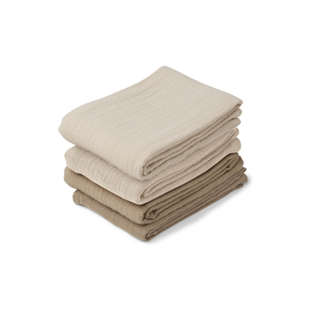 Slika Liewood® Set 4 muslin pleničk Leon Natural/Sandy Mix 60x60