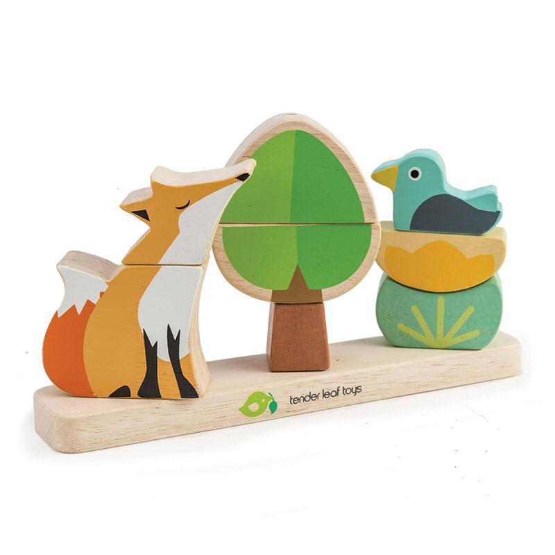 Tender Leaf Toys® Aktivnostna igrača Foxy Magnetic Stacker