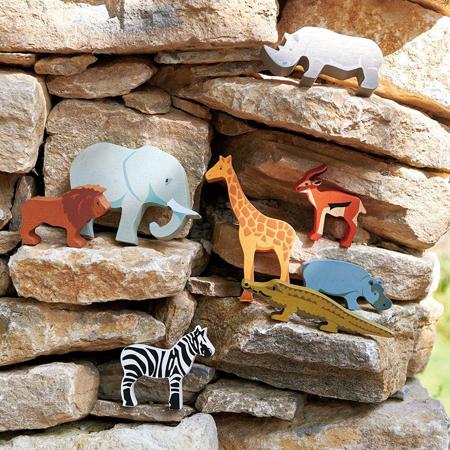 Tender Leaf Toys® Lesene živalice Safari Collection