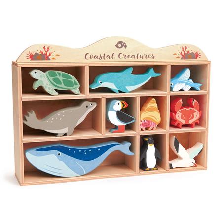 Slika Tender Leaf Toys® Lesene vodne živalice Coastal Creatures