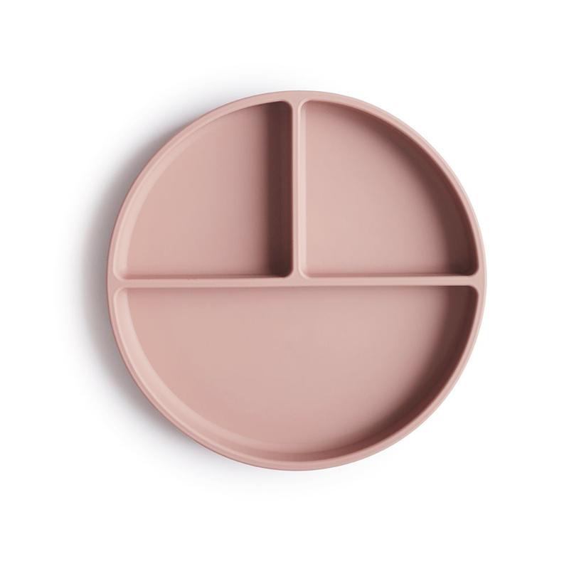 Mushie® Silikonski deljeni krožnik Blush