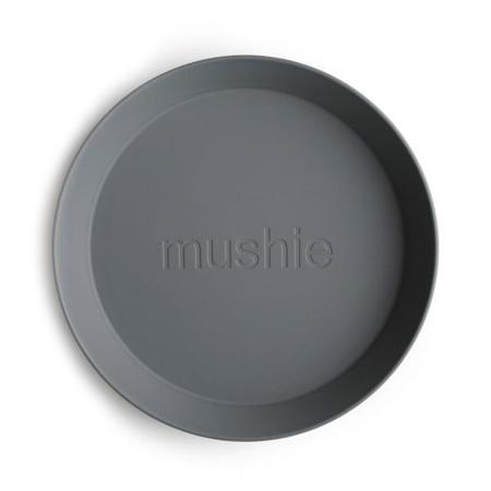 Mushie® Set dveh krožnikov Smoke