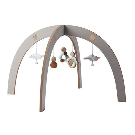 Slika Sebra® Aktivnostni leseni lok z igračkami Jetty Grey