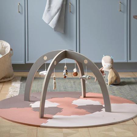 Sebra® Aktivnostni leseni lok z igračkami Jetty Grey