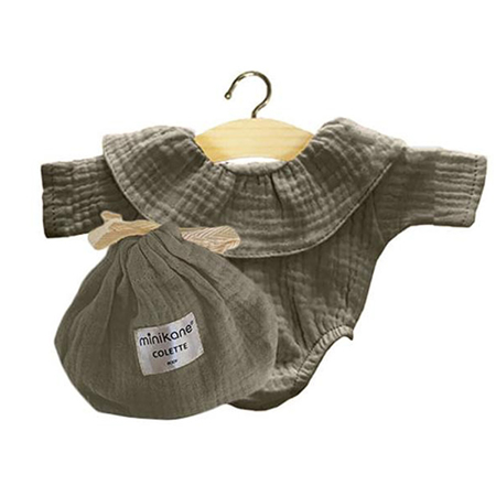 Slika Minikane® Obleka za punčke Colette Vert Olive 34cm