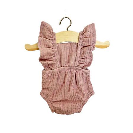 Slika Minikane® Obleka za punčke Lou Lurex Rose 34cm