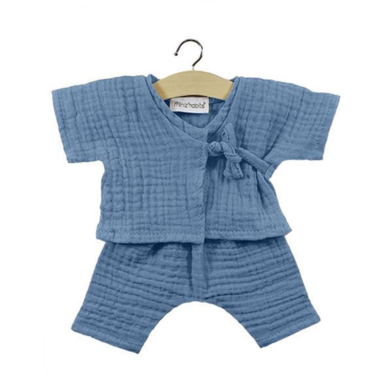 Minikane® Obleka za punčke Kimono Niko Bleu artic 34cm