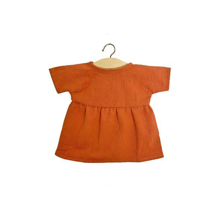 Slika Minikane® Obleka za punčke Faustine Terre de Sienne 34cm