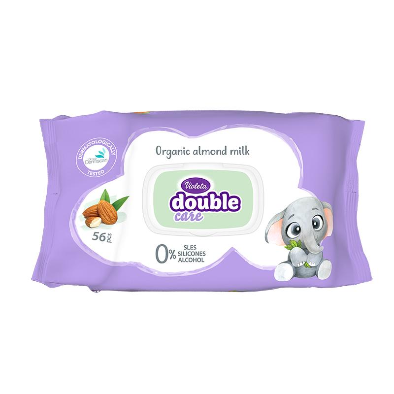 Violeta® Otroški vlažni robčki Mandljevo mleko 56/1