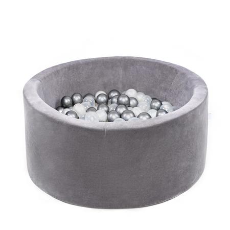 Misioo® Bazen s kroglicami Grey Velvet Collection