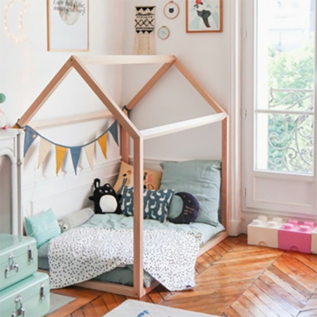 Childhome® Otroška postelja hiška 140x70
