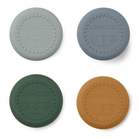 Liewood® Set 4 silikonskih kozarčkov Ethan Dino Blue Multi Mix
