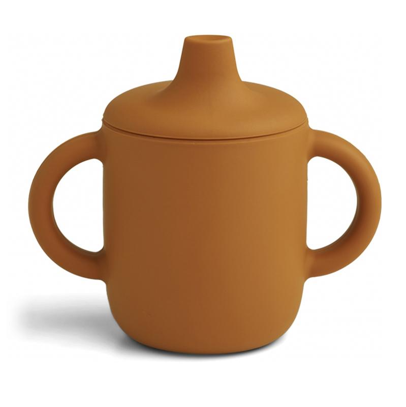 Liewood® Skodelica za učenje pitja iz silikona Neil Mustard