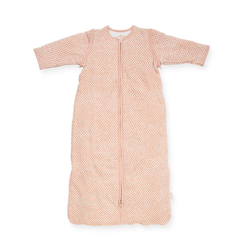 Jollein® Otroška spalna vreča s snemljivimi rokavi 110cm Snake Pale Pink TOG 2.0