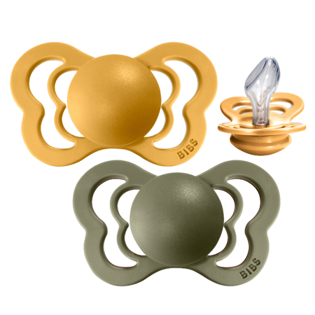 Slika Bibs® Duda Couture Silikon Honey Bee & Olive 2 (6-18m)
