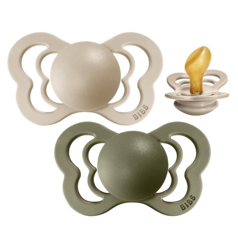 Bibs® Duda Couture Lateks Olive & Vanilla 2 (6-18m)