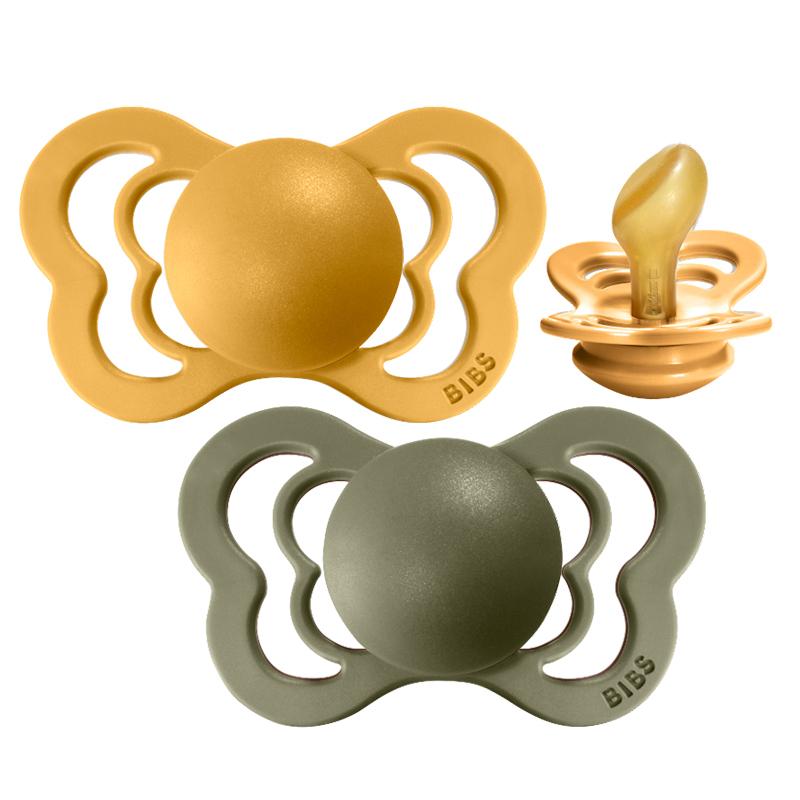 Bibs® Duda Couture Lateks Honey Bee & Olive 1 (0-6m)