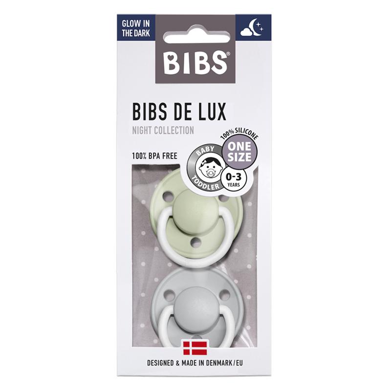 Bibs® Duda De Lux Silikon Sage & Cloud Night (0-36m)