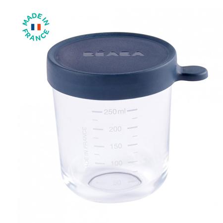 Slika Beaba® Steklena posodica za shranjevanje 250ml Dark Blue