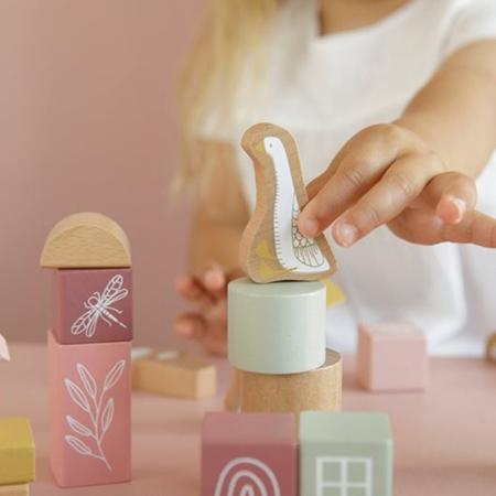 Little Dutch® Kocke za gradnjo Little Goose Pink