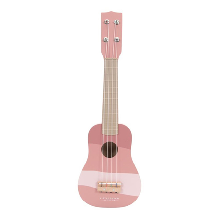 Slika Little Dutch® Lesena otroška kitara Pink