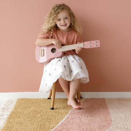 Little Dutch® Lesena otroška kitara Pink