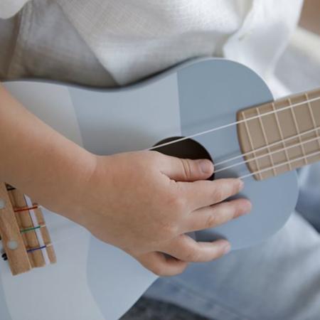 Little Dutch® Lesena otroška kitara Blue