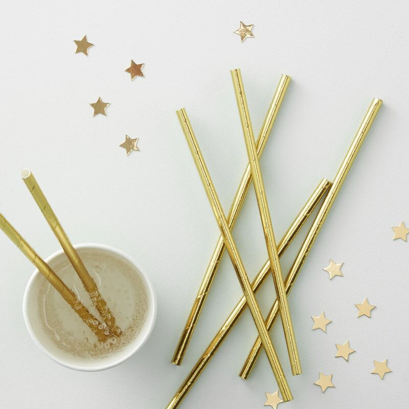 Ginger Ray® Papirnate slamice Gold 25 kosov