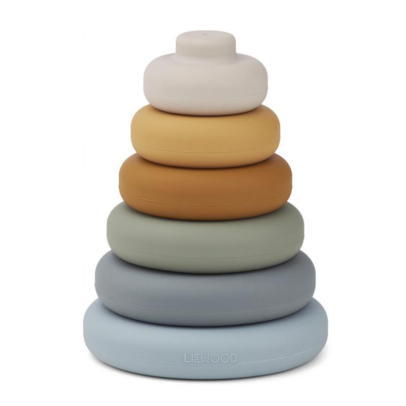 Liewood® Natikanka iz silikona Tower Blue Multi Mix