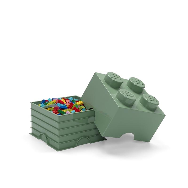 Lego® Škatla za shranjevanje 4 Sand Green