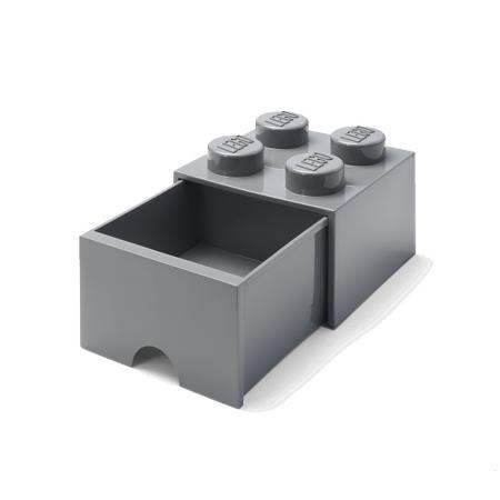 Slika Lego® Škatla za shranjevanje s predali 4 Dark Grey