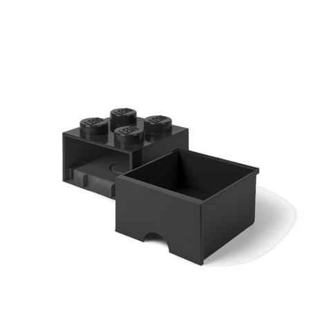Lego® Škatla za shranjevanje s predali 4 Black