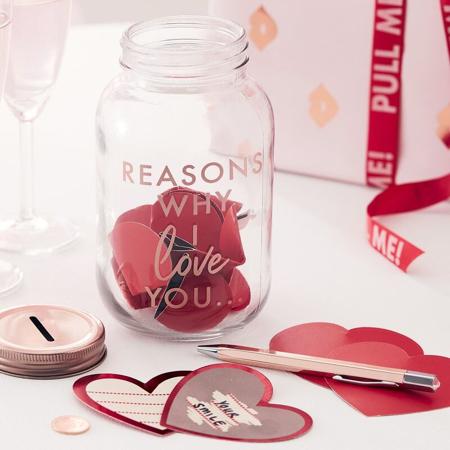 Slika Ginger Ray® Kozarec s kartončki Reasons Why I Love you