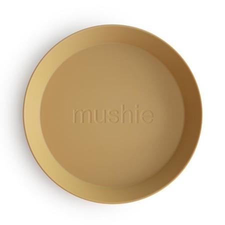Mushie® Set dveh krožnikov Mustard
