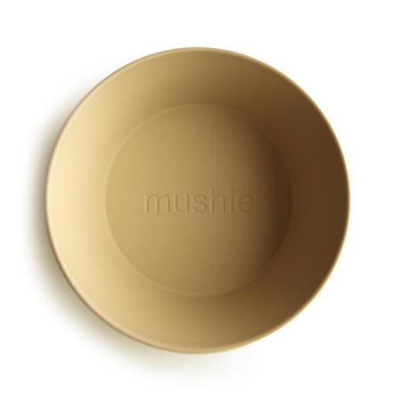 Mushie® Set dveh skledic Mustard