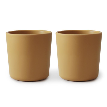 Slika Mushie® Set dveh kozarčkov Mustard