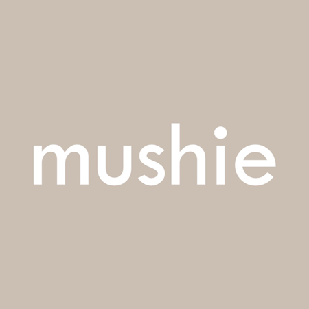 Mushie® Grizalo obroček Cambridge Blue/Clementine/Natural 3 kosi