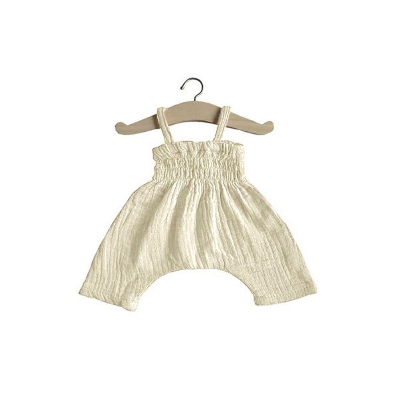Minikane® Obleka za punčke Ecru 34cm