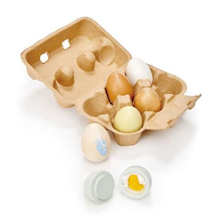 Slika Tender Leaf Toys® Lesena jajca Wooden Eggs