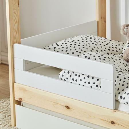 Quax® 2x ograjica za otroško posteljico hiška My Home White