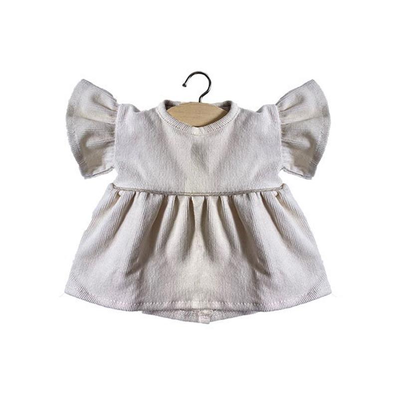 Minikane® Obleka za punčke Milleraies Ecru 34cm